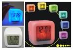 Reloj despertador, calendario, termometro