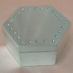 joyero hexagonal plaque con strass