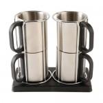 Set 4 mug metalicos