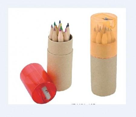 tubo de lapices con 12 colores