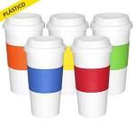 vaso plastico con grip silicona colores