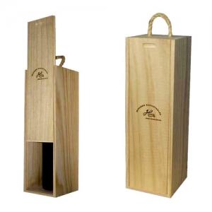 Caja de madera para vino merchandising y art culos for Bar de madera chile