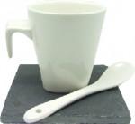 set de 6 tazas de cerámica con plato