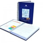 CUADERNO CORPORATIVO A PEDIDO CON POS-IT