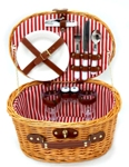 CANASTA PICNIC 2 PERS. OVAL RED