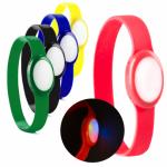 pulseras silicona con luz