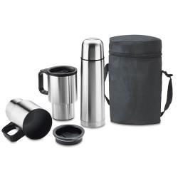 set de termo y tazas mas bolso