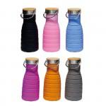 botella plegable silicona