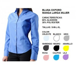blusa ox ford mujer