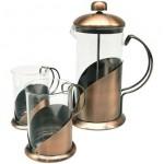 cafetera cobre mas 2 mug