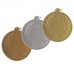 medallas cobre oro plata