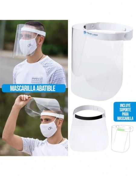 PROTECTOR FACIAL ABATIBLE CON SUJETA MASCARILLA