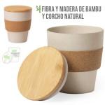 vaso fibra madera bambu