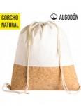 MOCHILA MORRAL ALGODON CORCHO 30X40CM