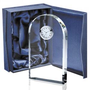 galvano cristal con reloj