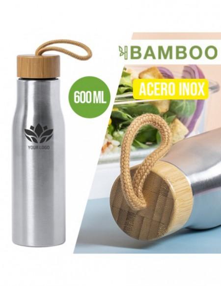 BOTELLA METAL BAMBOO 600ML
